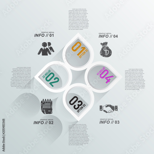 3D infographic background