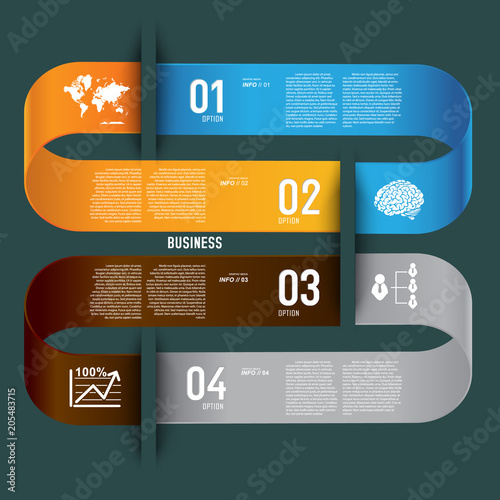 Poster 3D infographic background