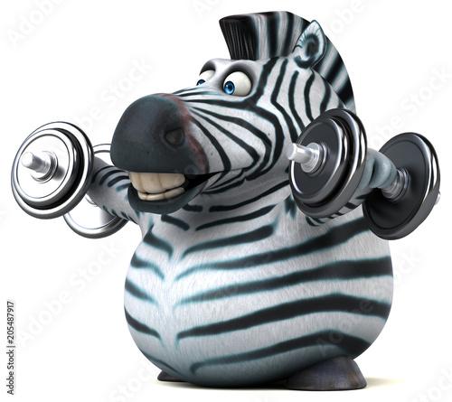 mata magnetyczna Fun zebra - 3D Illustration