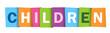 CHILDREN Vector Letters Icon