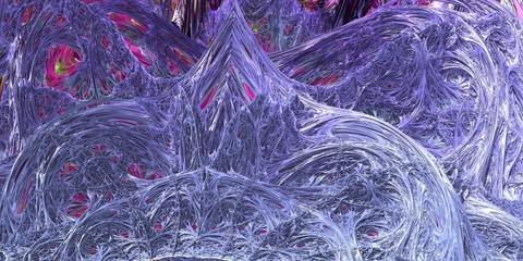 Frozen blue crystal kigdom fractal