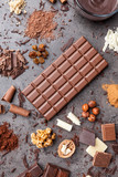 Delicious and tasty chocolate background - 205495799