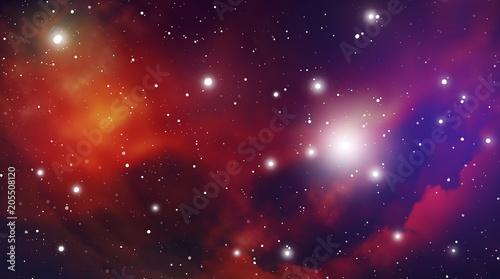 Fototapeta Astrology Mystic Outer Space Background. Vector Digital Illustration of Universe.