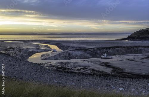 Aluminium Zee zonsondergang South Clevedon at dusk