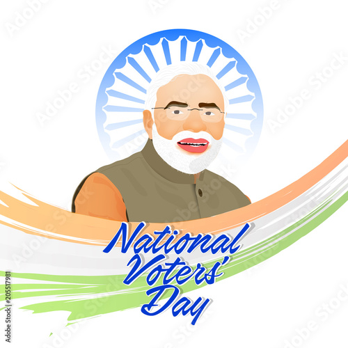 nice and beautiful abstarct or poster for National Voter's Day with nice and creative design illustration in a background.