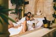Quadro Beautiful young couple enjoying and relaxing in SPA center