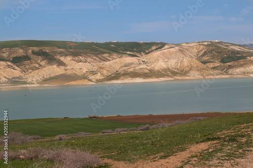 Plexiglas Marokko Lake Barrage Idriss in Morocco