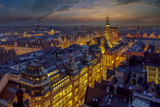 Wrocław Rynek - wieczorowy widok na rynek miejski oraz przepiękne niebo po zachodzie słońca