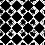 Seamless abstract pattern with a spirals in a black - white colors