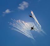 In the sky air acrobatics