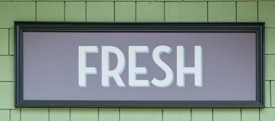 Fresh Sign at Market