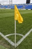 close up of soccer field grass - 205560970