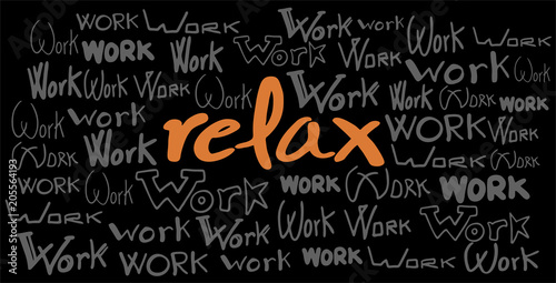 creative relax message - 205564193