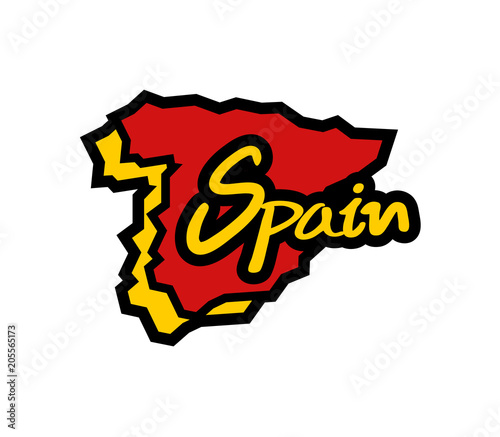 Spain map icon