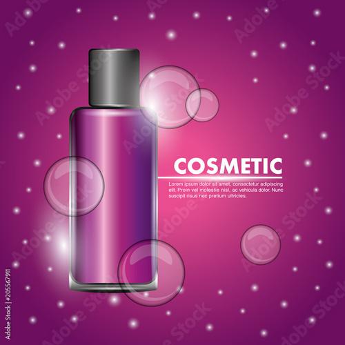 różowa butelka żel ciało pielęgnacja ilustracji wektorowych kosmetycznych