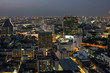 Quadro Top view of Bangkok on sunset