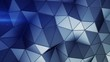 Futuristic blue construction with lines and low poly shape. Abstract 3D render of polygonal surface. Seamless loop smooth animation 4k UHD (3840x2160)