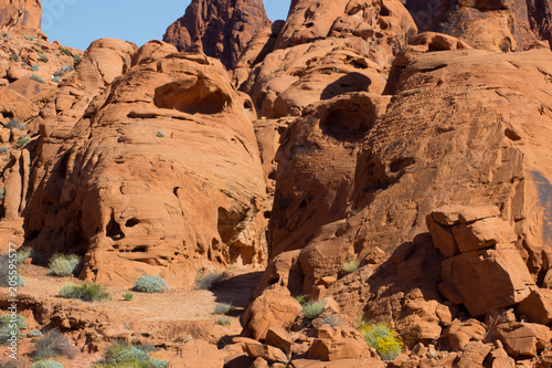 Fotobehang Bruin Red Rock Geology Valley National Park