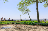Scenery of Battery park in lower Manhattan, NYC - 205597773