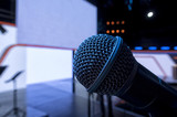 Microphone close-up on stage - 205619327