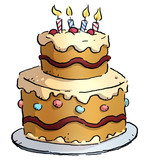 pastel de cumpleaños - 205626506