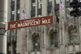 Chicago Magnificent Mile street sign - 205645923