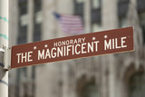 Chicago Magnificent Mile street sign - 205645954
