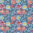 watercolor seamless floral pattern in high resolution for decor background cover texture textures printing textiles wallpaper books web design grass branches - 205646192