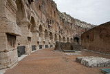 ruins of walkway at colosseum