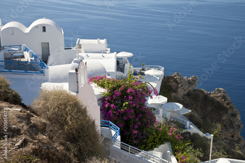 Foto Murales Typical View of Greece