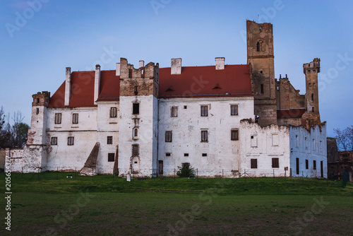 Side view of castle in Breclav town in South Moravian Region of Czech Republic