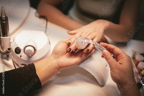 Foto Spatwand Manicure Care Of Hands And Nails
