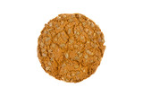 round cookies with sunflower seeds on white background