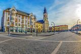 The Union Square with historical buildings. Oradea, Romania - 205660346