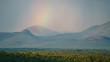 Quadro Regenbogen über dem Waterberg Gebirge in Südafrika