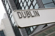 Dublin Signpost with Building - 205669347