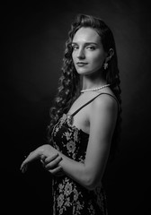 Portrait of a beautiful woman with perfect long hair . © Igor Normann