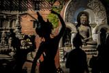 siluetas de figuras en katmandu nepal
