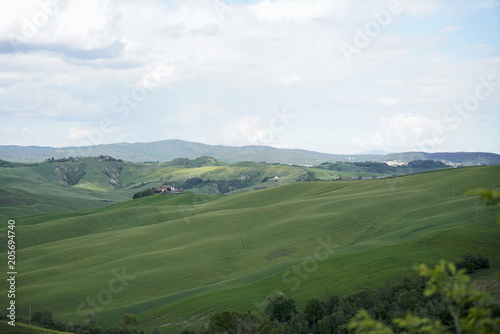 Fotobehang Wit Crete Senesi near Asciano, Siena, Tuscan Italy, Magnificent landscape of the Tuscan countryside