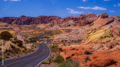 Fotobehang Diepbruine Desert Red Sandstone Hills