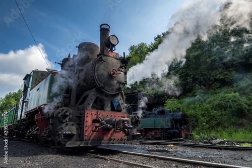 Fototapeta vintage stream locomotive