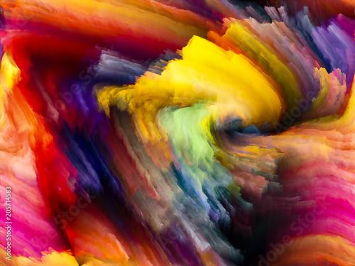 Naklejka Acceleration of Fractal Color