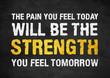 Motivation quote - fitness concept