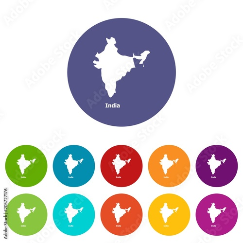 India map icon. Simple illustration of india map vector icon for web