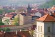 Quadro Spring morning over Prague. Czech Republic
