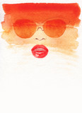 beautiful woman. fashion illustration. watercolor painting - 205741170