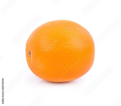 Ripe orange fruit isolated on white background