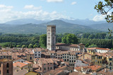 Italian streets and architecture, view from hill