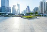 empty, modern square in modern city - 205746301