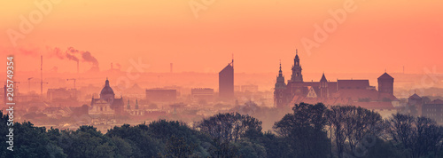 Krakow Old Town in early morning - 205749354